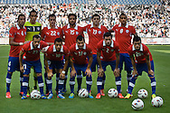 14.09.13. Brondby, Denmark.Chile's team before the match during the international friendly against Irak at the Brondby Stadium in Denmark.Photo: © Ricardo Ramirez
