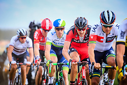 The lead group of riders including Marcus Burghardt (GER) BMC and Mathew Hayman (AUS) Orica GreenEDGE in action on pave sector 11 Auchy-lez-Orchies a Bersee during the 114th edition of  Paris Roubaix 2016 race running 255.5km from Compiegne to Roubaix, France. 10th April 2016.<br /> Photo by Eoin Clarke / PelotonPhotos.com<br /> <br /> All photos usage must carry mandatory copyright credit (&copy; Peloton Photos | Newsfile | Eoin Clarke)
