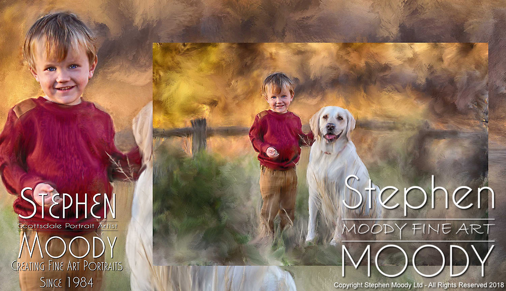 Fine Art Portraits by Scottsdale Portrait Artist Stephen Moody - Commissioned Mixed Media Portraiture