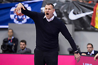 Slovenia coach Rado Trifunovic during FIBA European Qualifiers to World Cup 2019 between Spain and Slovenia at Coliseum Burgos in Madrid, Spain. November 26, 2017. (ALTERPHOTOS/Borja B.Hojas)