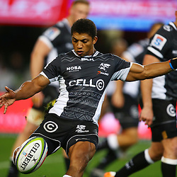 DURBAN, SOUTH AFRICA, 9,JULY, 2016 Garth April of the Cell C Sharks during The Cell C Sharks vs Toyota Cheetahs  Super Rugby Match at Growthpoint Kings Park in Durban, South Africa. (Photo by Steve Haag)<br /> <br /> images for social media must have consent from Steve Haag