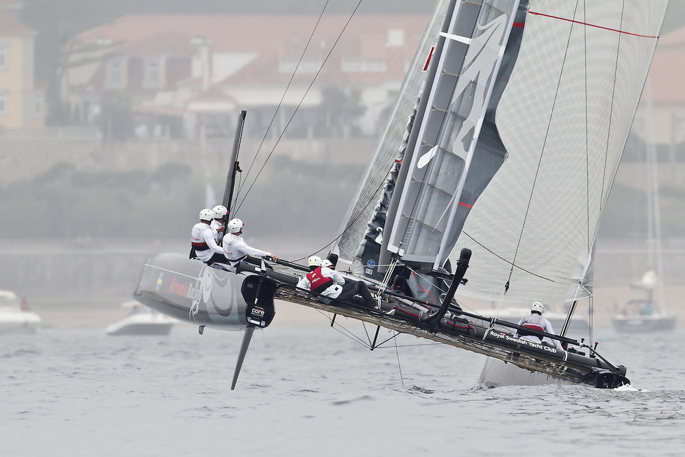 PORTUGAL, Cascais. 6th August 2011. America's Cup World Series. Day 1. ARTEMIS RACING.