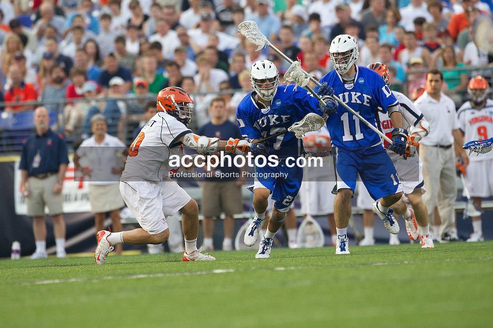 29 May 2010: Duke Blue Devils midfielder Jake Tripucka (27) in a 14-13 win over the Virginia Cavaliers in the NCAA semifinals at M&T Bank Stadium in Baltimore, MD.
