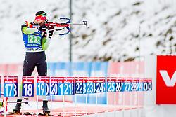 Jakov Fak (SLO) during Single Mixed Relay at day 1 of IBU Biathlon World Cup 2018/19 Pokljuka, on December 2, 2018 in Rudno polje, Pokljuka, Pokljuka, Slovenia. Photo by Ziga Zupan / Sportida