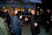 SARAH WOODHEAD; JAY KAY, 2009 Serpentine Gallery Summer party. Sponsored by Canvas TV. Serpentine Gallery Pavilion designed by Kazuyo Sejima and Ryue Nishizawa of SANAA. Kensington Gdns. London. 9 July 2009.
