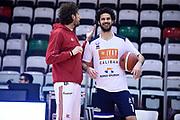 Infante Luca Vitali Luca <br /> Grissin Bon Reggio Emilia - Germani Basket Brescia<br /> Lega Basket Serie A 2019/2020<br /> Reggio Emilia, 11/01/2020<br /> Foto A.Giberti / Ciamillo - Castoria