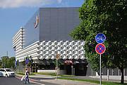 Shopping Center Centrum Galerie, Einfahrt Tiefgarage, Dresden, Sachsen, Deutschland.|.Shopping Center Centrum Galerie, Dresden, Germany