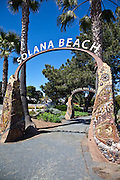 Coastal Rail Trail Sculpted Archway in Solana Beach California