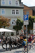 Gasthaus zum weißen Schwan, Kutsche, Weimar, Thüringen, Deutschland   Zum Weissen Schwan, Inn, carriage, Weimar, Thuringia, Germany