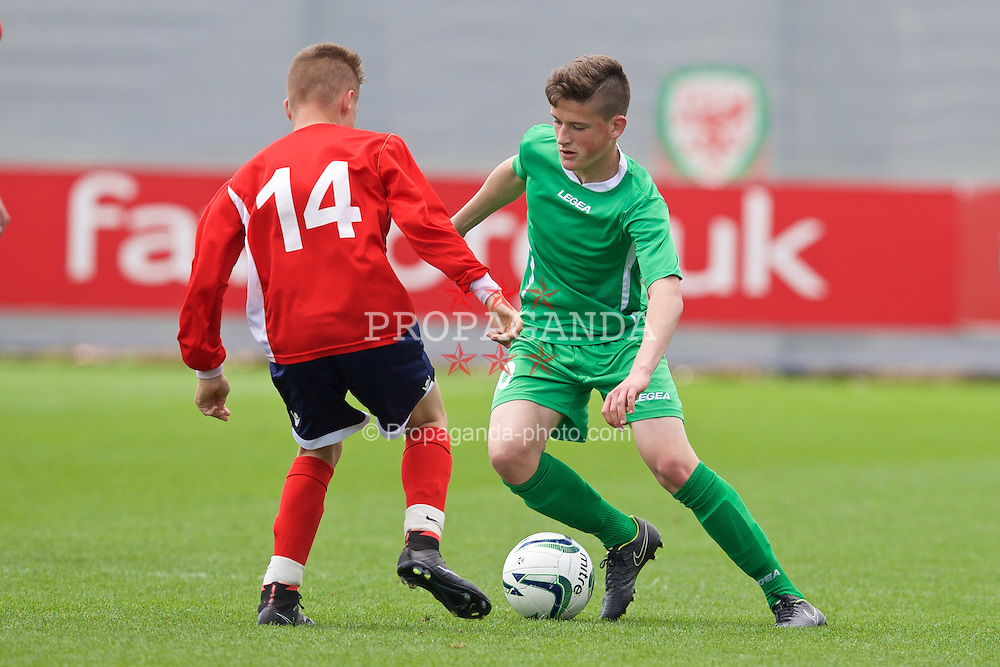 NEWPORT, WALES - Thursday, May 28, 2015: Central WPL Academy Boys' Jack Vale during the Welsh Football Trust Cymru Cup 2015 at Dragon Park. (Pic by David Rawcliffe/Propaganda)