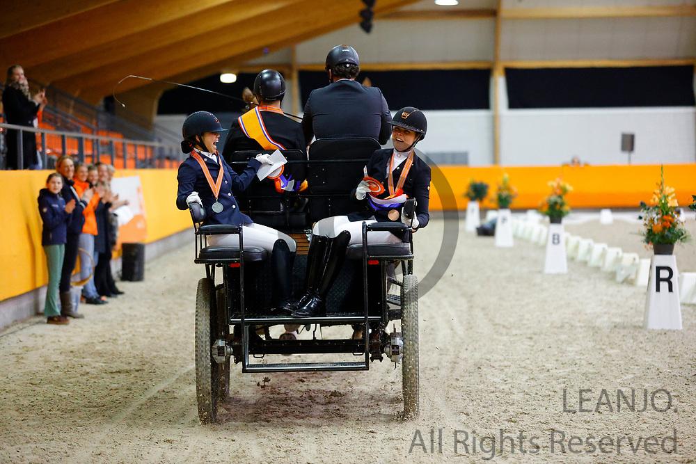 Shanna Baars - Mara de Vries<br /> KNHS Indoorkampioenschappen 2020<br /> © DigiShots
