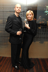 Actress MICHELLE COLLINS and partner RICHARD at a Valentine's Party in aid of Chickenshed held at De Beers, 50 Old Bond Street, London W1 on 6th Fbruary 2008.<br /><br />NON EXCLUSIVE - WORLD RIGHTS