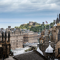 The Balmoral Hotel and Calton Hill