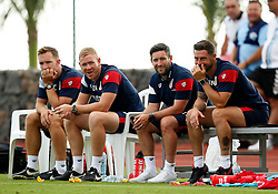 Bristol City coaches Rhys Carr, Dean Holden, Lee Johnson, Jamie McAllister - Mandatory by-line: Matt McNulty/JMP - 22/07/2017 - FOOTBALL - Tenerife Top Training - Costa Adeje, Tenerife - Bristol City v Atletico Union Guimar  - Pre-Season Friendly