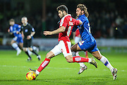 Swindon Town's Yaser Kasim on the  ball  during the Sky Bet League 1 match between Swindon Town and Gillingham at the County Ground, Swindon, England on 26 December 2015. Photo by Shane Healey.