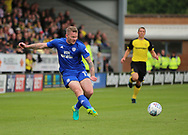 Aron Gunnarsson of Cardiff City during the Sky Bet Championship match at the Pirelli Stadium, Burton upon Trent<br /> Picture by Mike Griffiths/Focus Images Ltd +44 7766 223933<br /> 05/08/2017