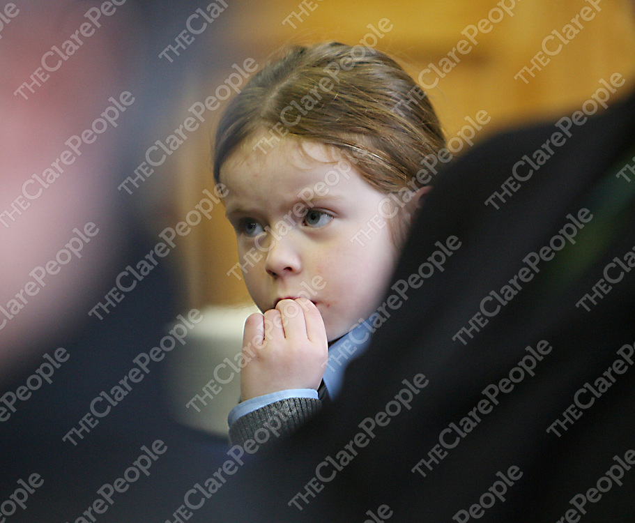 Ciara Maloney was taking it all in during Minister for the Gaelteacht and Rural Affairs Eamon O' Cuiv's visit to Sixmilebridge on Thursday.<br /><br /><br /><br />Photograph by Yvonne Vaughan.