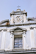 The Church and Convent of the Girolamini in Naples, southern Italy. The conservative Late Baroque facade designed by Ferdinando Fuga belies its late date of 1780.
