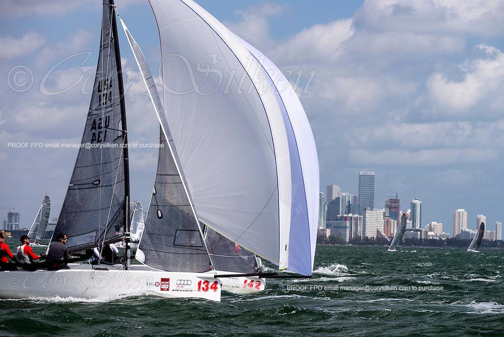Problem Child sailing in Bacardi Miami Sailing Week, day five.