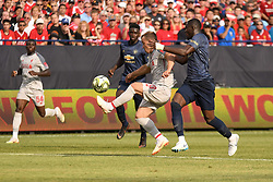 July 28, 2018 - Ann Arbor, MI, U.S. - ANN ARBOR, MI - JULY 28: Liverpool Midfielder Xherdan Shaqiri (23) captures a pass in the second half of the ICC soccer match between Manchester United FC and Liverpool FC on July 28, 2018 at Michigan Stadium in Ann Arbor, MI (Photo by Allan Dranberg/Icon Sportswire) (Credit Image: © Allan Dranberg/Icon SMI via ZUMA Press)