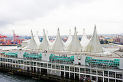 Vancouver Convention Center. Has largest green roof in North America at over 6 Acres. Located in Vancouver BC.