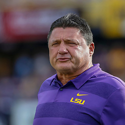 Sep 8, 2018; Baton Rouge, LA, USA; LSU Tigers head coach Ed Orgeron before a game against the Southeastern Louisiana Lions at Tiger Stadium. Mandatory Credit: Derick E. Hingle-USA TODAY Sports