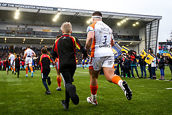 Ethan Waller of Worcester Warriors runs out at Sixways Stadium - Mandatory by-line: Robbie Stephenson/JMP - 15/02/2020 - RUGBY - Sixways Stadium - Worcester, England - Worcester Warriors v Bath Rugby - Gallagher Premiership Rugby