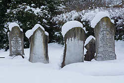 Snowy frosting on headstones at Springfield, inland Canterbury, New Zealand, Thursday, July 13, 2017. Credit:  SNPA / David Alexander -NO ARCHIVING-