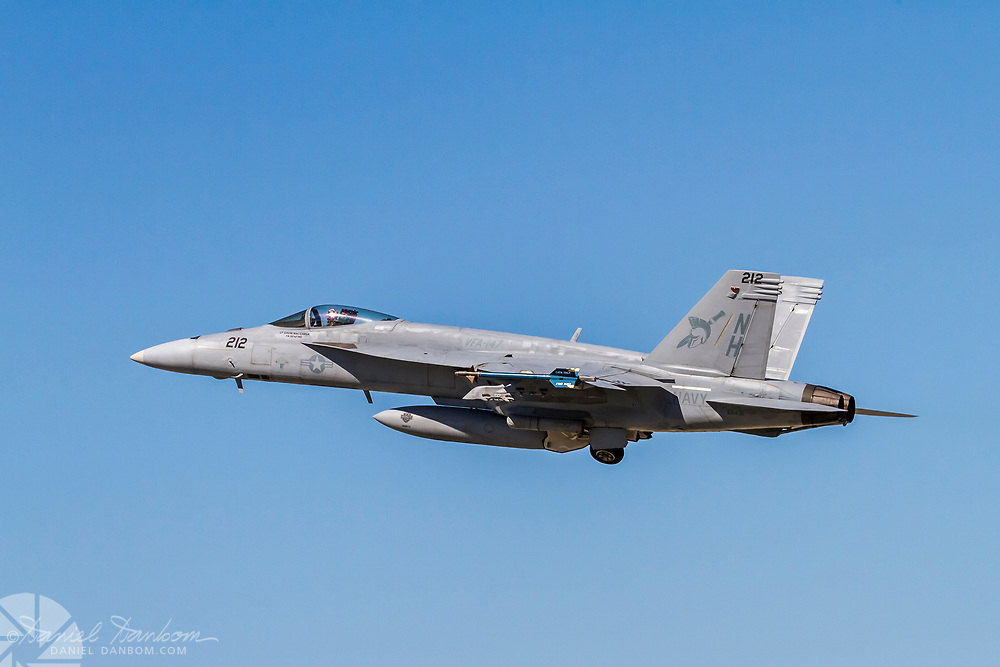 F-18 taking off at MRY, Monterey, California