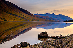 Sunset in autumn at Loch Etive in Glen Etive, Highlands of Scotland<br /> <br /> (c) Andrew Wilson | Edinburgh Elite media