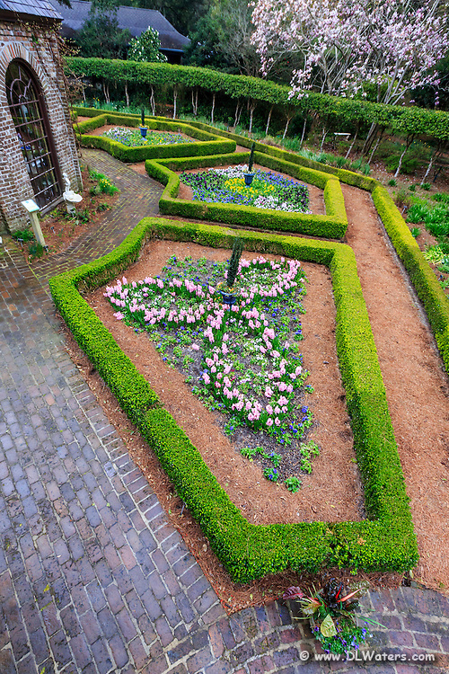 Formal garden at the Elizabethan Gardens on Roanoke Island.