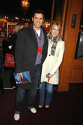 Actor JEREMY EDWARDS and LYDIA METZ at the gala night of Varekai by Cirque du Soleil at The Royal Albert Hall, London on 8th January 2008.<br />