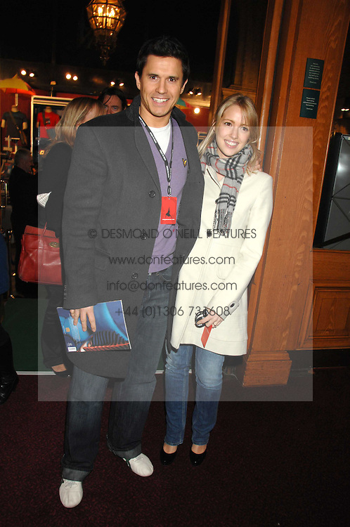 Actor JEREMY EDWARDS and LYDIA METZ at the gala night of Varekai by Cirque du Soleil at The Royal Albert Hall, London on 8th January 2008.<br /><br />NON EXCLUSIVE - WORLD RIGHTS