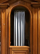 close up of a confessional Italy