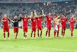 27.09.2011, Allianz Arena, Muenchen, GER, UEFA CL, FC Bayern Muenchen vs Manchester City, im Bild Die Bayern feiern mit Ihren Fans // during the CL match  FC Bayern Muenchen (GER)  vs Manchester City (ENG) Gruppe A, on 2011/09/27, Allianz Arena, Munich, Germany, EXPA Pictures © 2011, PhotoCredit: EXPA/ nph/  Straubmeier       ****** out of GER / CRO  / BEL ******