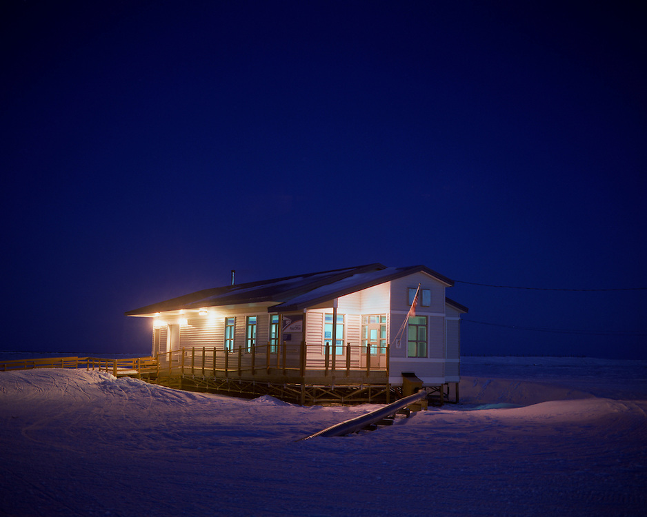 Arctic scene; Kotlik, AK post office; from the Yukon River delta, Bering Sea area, Alaska.