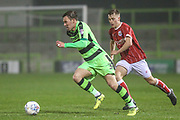 Forest Green Rovers Scott laird(3) runs forward during the Gloucestershire Senior Cup match between Forest Green Rovers and U23 Bristol City at the New Lawn, Forest Green, United Kingdom on 9 April 2018. Picture by Shane Healey.