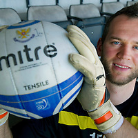 St Johnstone keeper Alan Mannus enjoying life at McDiarmid Park ahead of Sunday's clash at Celtic.....30.03.12<br /> Picture by Graeme Hart.<br /> Copyright Perthshire Picture Agency<br /> Tel: 01738 623350  Mobile: 07990 594431