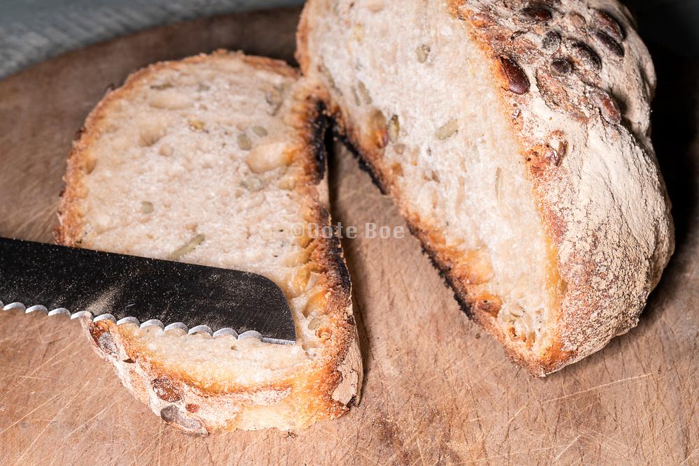 healthy organic brown bread
