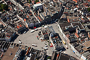 Nederland, Noord-Brabant, Den Bosch, 08-07-2010; plein in het centrum van de binnenstad, De Markt..Square in the center of downtown, The Market..luchtfoto (toeslag), aerial photo (additional fee required).foto/photo Siebe Swart
