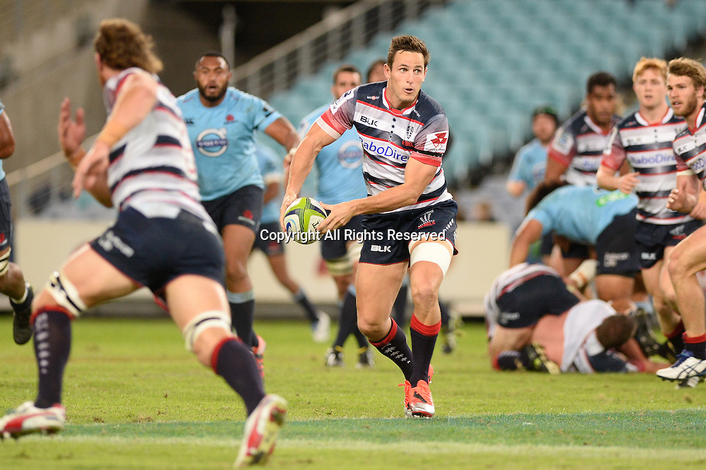 25.04.2015.  Sydney, Australia. Super Rugby. NSW Waratahs versus Melbourne Rebels. Rebels fullback Mike Harris. The Waratahs won 18-16.