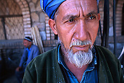 UZBEKISTAN: A moslem man at the market in Samarkand