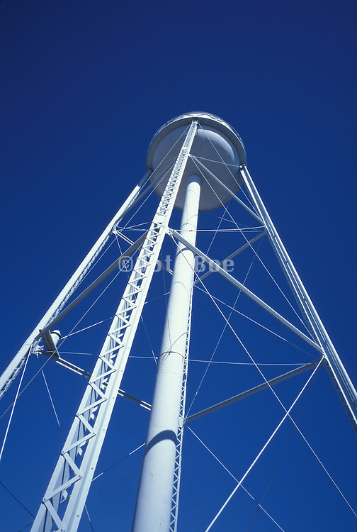 water tower against a blue sky