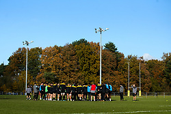 Wasps huddle during training ahead of the European Challenge Cup fixture against SU Agen - Mandatory by-line: Robbie Stephenson/JMP - 18/11/2019 - RUGBY - Broadstreet Rugby Football Club - Coventry , Warwickshire - Wasps Training Session