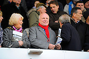 FA Chairman Greg Dyke in the crowd before the start of the The FA Cup third round match between Eastleigh and Bolton Wanderers at Silverlake Stadium, Ten Acres, Eastleigh, United Kingdom on 9 January 2016. Photo by Graham Hunt.