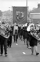 Sharlston Branch banner. 1990 Yorkshire Miner's Gala. Rotherham.