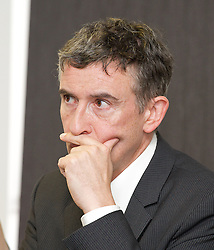 Steve Coogan at the Hacked off Press Conference during the Liberal Democrats Annual Conference in Brighton, Tuesday September 25, 2012. Photograph by Elliott Franks / i-Images