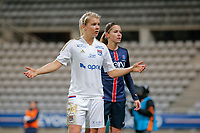 Ada Hegerberg (Olympique Lyonnais), Erika Cristiano dos Santos (PSG women) during the Women's French Championship D1 football match between Paris Saint Germain and Olympique Lyonnais on February 5, 2016 at Charlety stadium in Paris, France - Photo Stephane Allaman / DPPI