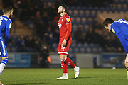 Jamie Sendles-White in action during the EFL Sky Bet League 2 match between Colchester United and Crawley Town at the JobServe Community Stadium, Colchester, England on 1 January 2020.