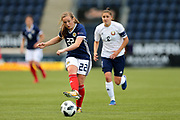 Erin Cuthbert (#22) of Scotland plays a forward pass during the FIFA Women's World Cup UEFA Qualifier match between Scotland Women and Belarus Women at Falkirk Stadium, Falkirk, Scotland on 7 June 2018. Picture by Craig Doyle.